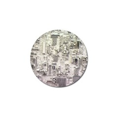 White Technology Circuit Board Electronic Computer Golf Ball Marker (10 Pack) by BangZart