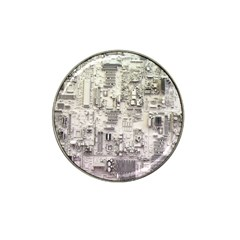 White Technology Circuit Board Electronic Computer Hat Clip Ball Marker (4 Pack) by BangZart