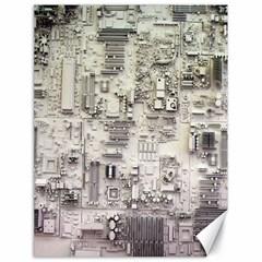 White Technology Circuit Board Electronic Computer Canvas 18  X 24   by BangZart