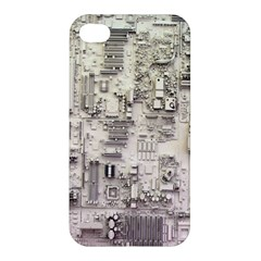 White Technology Circuit Board Electronic Computer Apple Iphone 4/4s Hardshell Case by BangZart