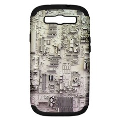 White Technology Circuit Board Electronic Computer Samsung Galaxy S Iii Hardshell Case (pc+silicone) by BangZart