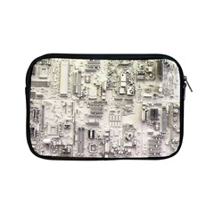 White Technology Circuit Board Electronic Computer Apple Ipad Mini Zipper Cases by BangZart