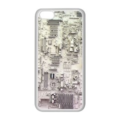 White Technology Circuit Board Electronic Computer Apple Iphone 5c Seamless Case (white) by BangZart