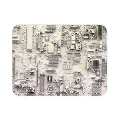 White Technology Circuit Board Electronic Computer Double Sided Flano Blanket (mini)  by BangZart