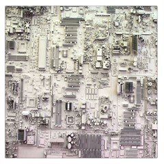 White Technology Circuit Board Electronic Computer Large Satin Scarf (square) by BangZart