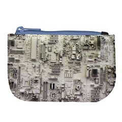 White Technology Circuit Board Electronic Computer Large Coin Purse by BangZart
