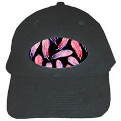 Watercolor Pattern With Feathers Black Cap by BangZart