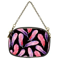Watercolor Pattern With Feathers Chain Purses (one Side)  by BangZart