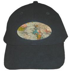 Vintage World Map Black Cap by BangZart