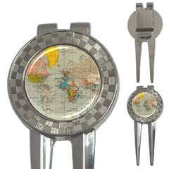 Vintage World Map 3 In 1 Golf Divots by BangZart