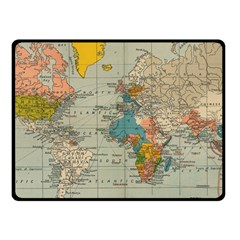 Vintage World Map Fleece Blanket (small) by BangZart