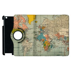 Vintage World Map Apple Ipad 2 Flip 360 Case by BangZart