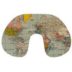 Vintage World Map Travel Neck Pillows by BangZart