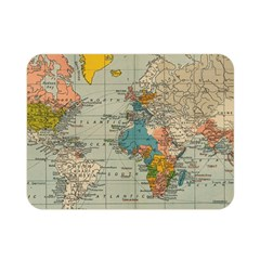 Vintage World Map Double Sided Flano Blanket (mini)  by BangZart