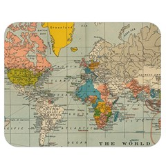 Vintage World Map Double Sided Flano Blanket (medium)  by BangZart