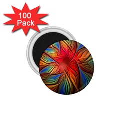 Vintage Colors Flower Petals Spiral Abstract 1 75  Magnets (100 Pack)  by BangZart