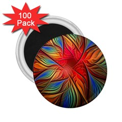 Vintage Colors Flower Petals Spiral Abstract 2 25  Magnets (100 Pack)  by BangZart