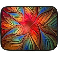 Vintage Colors Flower Petals Spiral Abstract Fleece Blanket (mini) by BangZart