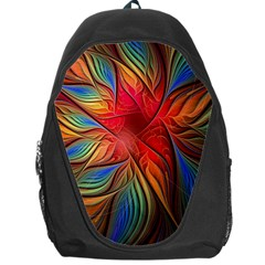Vintage Colors Flower Petals Spiral Abstract Backpack Bag by BangZart