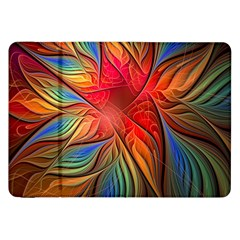 Vintage Colors Flower Petals Spiral Abstract Samsung Galaxy Tab 8 9  P7300 Flip Case by BangZart