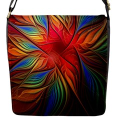 Vintage Colors Flower Petals Spiral Abstract Flap Messenger Bag (s) by BangZart