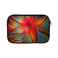 Vintage Colors Flower Petals Spiral Abstract Apple Ipad Mini Zipper Cases by BangZart