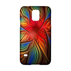 Vintage Colors Flower Petals Spiral Abstract Samsung Galaxy S5 Hardshell Case  by BangZart