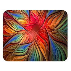 Vintage Colors Flower Petals Spiral Abstract Double Sided Flano Blanket (large)  by BangZart