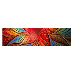 Vintage Colors Flower Petals Spiral Abstract Satin Scarf (oblong)