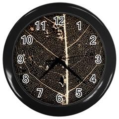 Vein Skeleton Of Leaf Wall Clocks (black) by BangZart