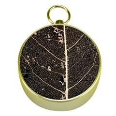 Vein Skeleton Of Leaf Gold Compasses by BangZart