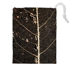 Vein Skeleton Of Leaf Drawstring Pouches (xxl) by BangZart