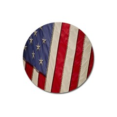Usa Flag Magnet 3  (round) by BangZart