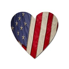 Usa Flag Heart Magnet by BangZart