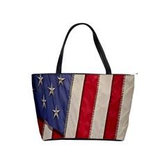 Usa Flag Shoulder Handbags by BangZart
