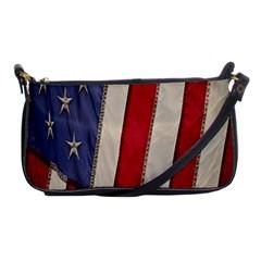 Usa Flag Shoulder Clutch Bags by BangZart