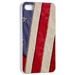 Usa Flag Apple Iphone 4/4s Seamless Case (white) by BangZart
