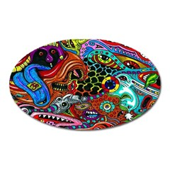 Vector Art Pattern Oval Magnet by BangZart