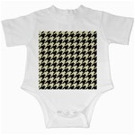 HOUNDSTOOTH2 BLACK MARBLE & BEIGE LINEN Infant Creepers