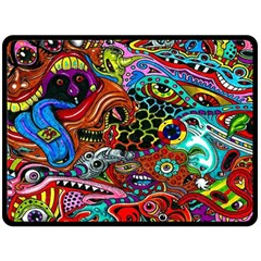 Vector Art Pattern Double Sided Fleece Blanket (large)  by BangZart