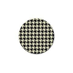 Houndstooth2 Black Marble & Beige Linen Golf Ball Marker (10 Pack) by trendistuff