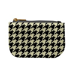 Houndstooth2 Black Marble & Beige Linen Mini Coin Purses by trendistuff