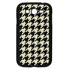 Houndstooth2 Black Marble & Beige Linen Samsung Galaxy Grand Duos I9082 Case (black) by trendistuff