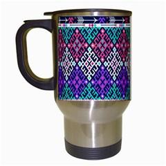 Tribal Seamless Aztec Pattern Travel Mugs (white) by BangZart