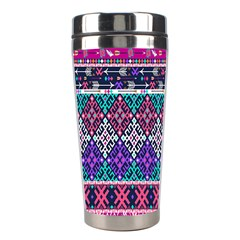 Tribal Seamless Aztec Pattern Stainless Steel Travel Tumblers by BangZart