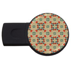 Traditional Scandinavian Pattern Usb Flash Drive Round (2 Gb) by BangZart