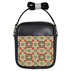 Traditional Scandinavian Pattern Girls Sling Bags by BangZart