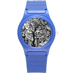 Tree Fractal Round Plastic Sport Watch (s) by BangZart
