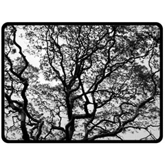 Tree Fractal Double Sided Fleece Blanket (large)  by BangZart
