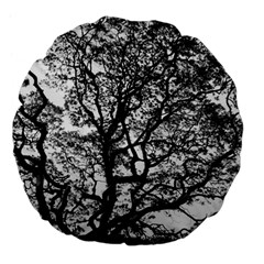 Tree Fractal Large 18  Premium Flano Round Cushions by BangZart